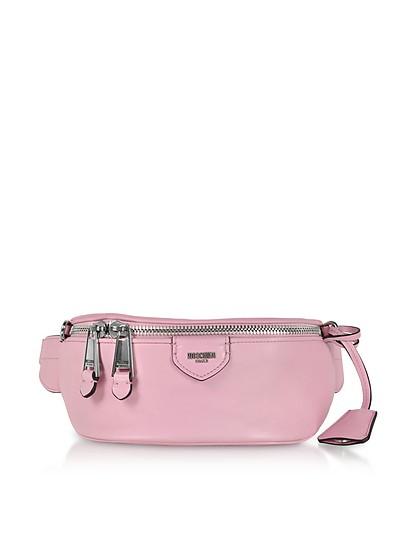 Gürteltasche aus Leder in rosa - Moschino