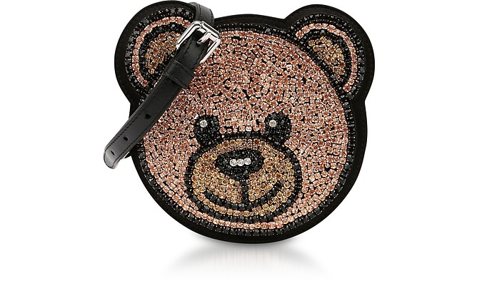 Teddy Bear Crystals Round Crossbody Bag - Moschino