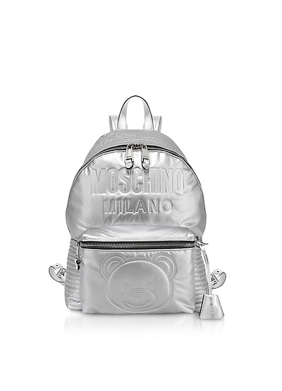 Space Teddy Eco-Leather Backpack - Moschino