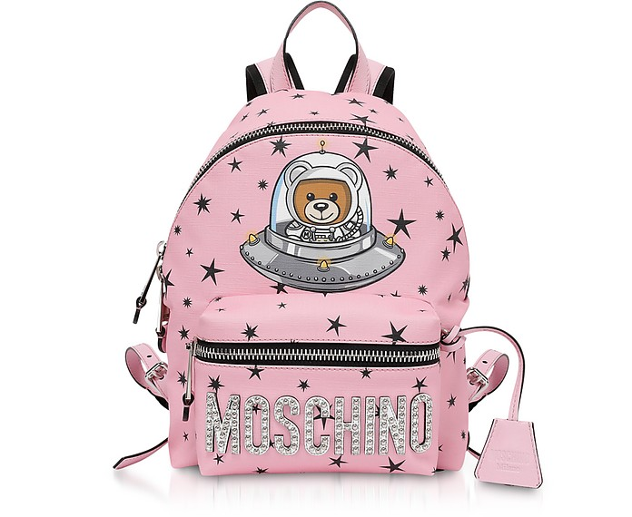 Pink Space Teddy Bear Backpack - Moschino