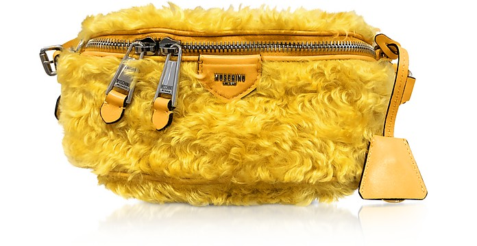 Yellow Mohair Belt Bag - Moschino