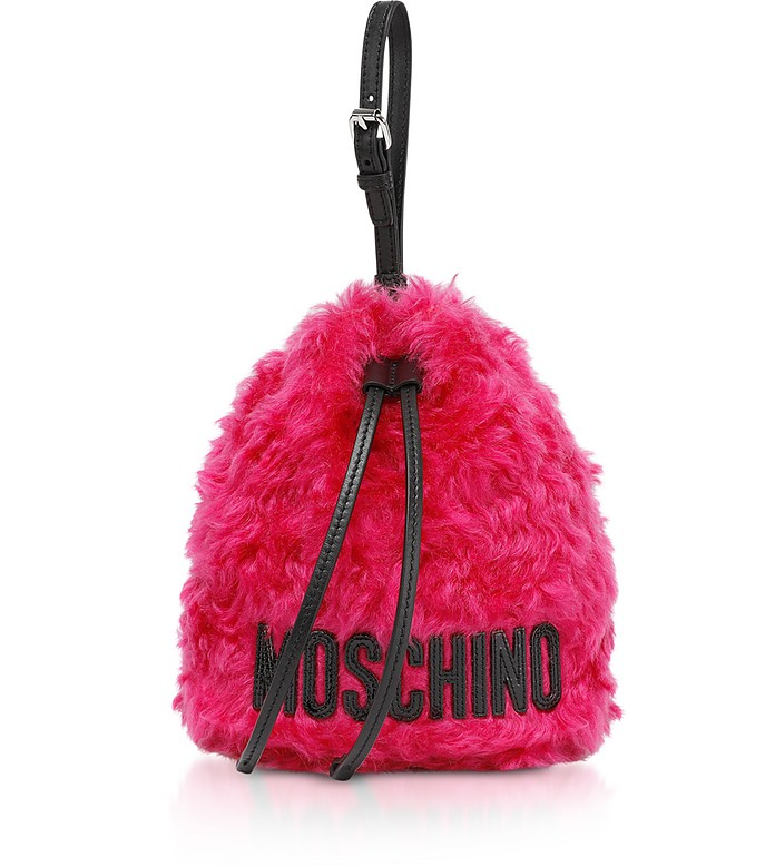 Mohair Bucket Bag - Moschino