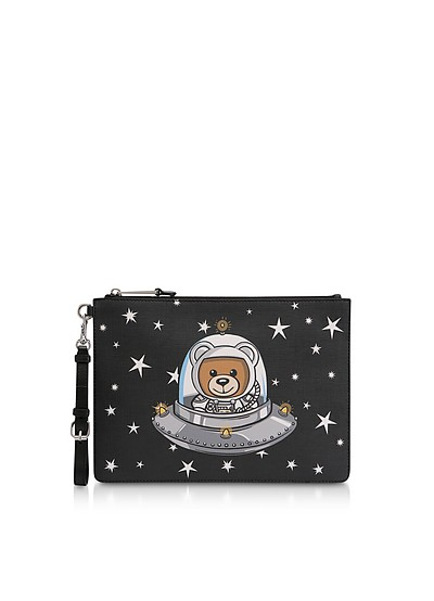 Black UFO Teddy Clutch - Moschino
