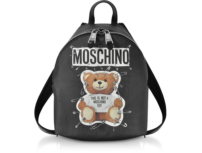Teddy Bear Black Backpack - Moschino