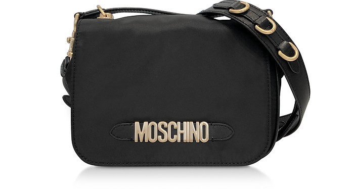 Black Nylon Signature Shoulder Bag - Moschino / モスキーノ