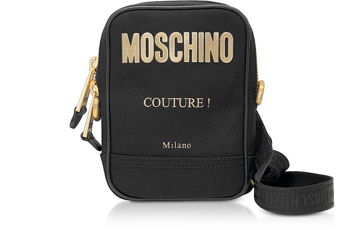 Black & Gold Signature Shoulder Bag - Moschino