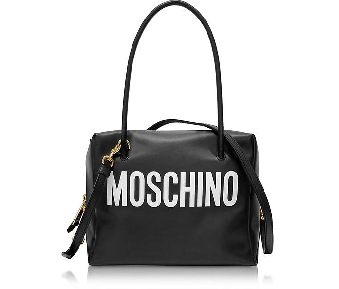 Black and White Signature Satchel Bag - Moschino / モスキーノ