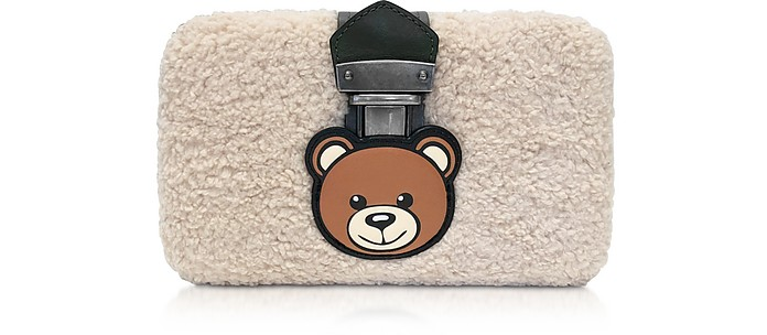 Teddy Bear Eco-Shearling Clutch w/Chain Strap - Moschino / モスキーノ