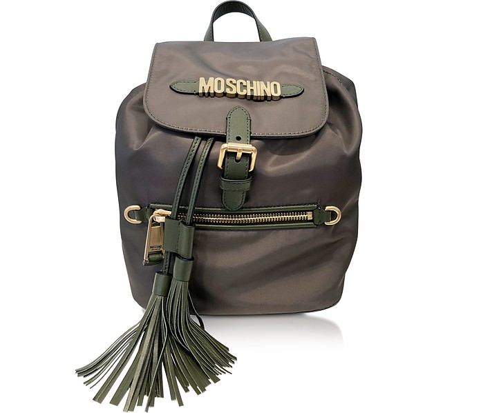 Black Top handle Backpack - Moschino