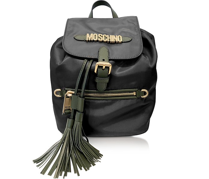 Black Top handle Backpack - Moschino