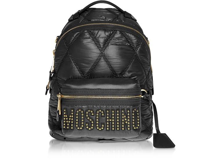 Moschino ブラックナイロンバックパック - Moschino / モスキーノ