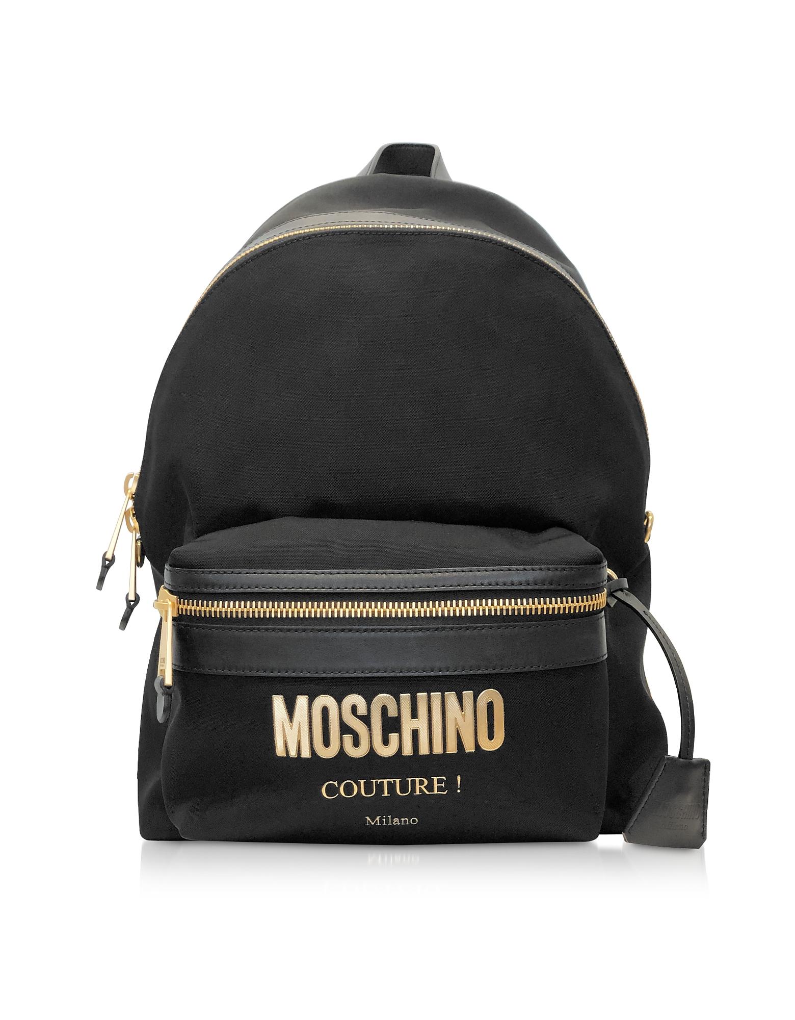 405bb414f2f Moschino Black Nylon Signature Backpack | ModeSens