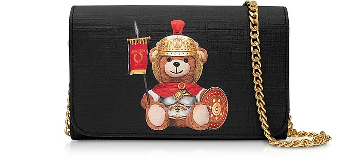 Teddy Bear Wallet Clutch w/Chain Strap - Moschino