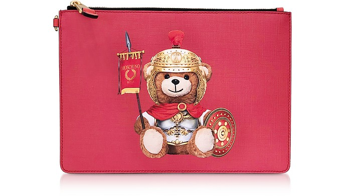 Teddy Bear Flat Clutch w/Wristlet - Moschino 摩斯基诺
