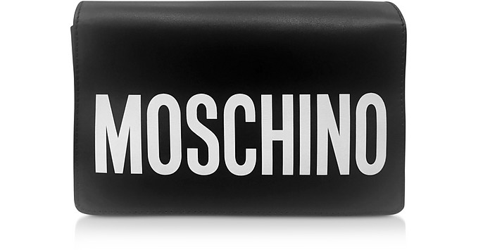 Signature Leather Shoulder Bag - Moschino