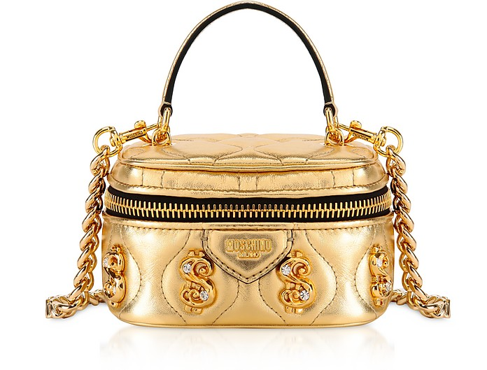 Bauletto Mini Golden Dollars con Cristalli - Moschino