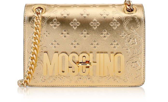 Golden Signature Shoulder Bag - Moschino