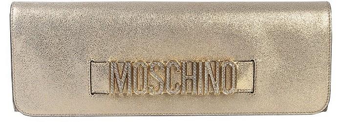 Clutch With Logo - Moschino