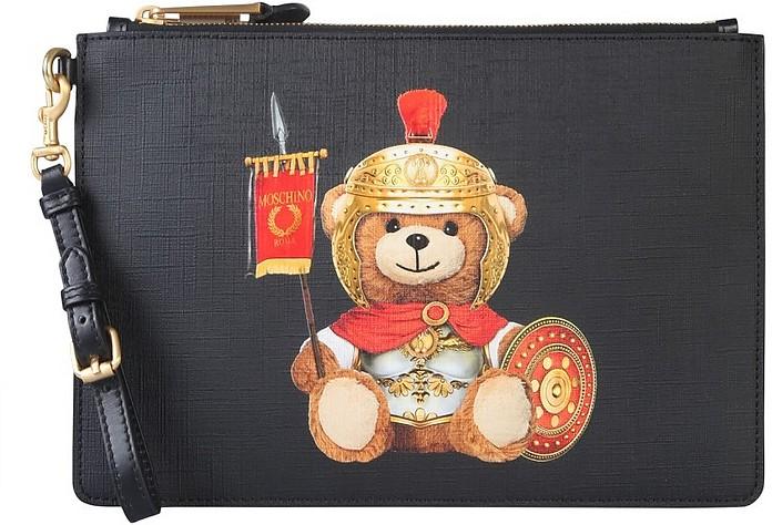Roman Teddy Bear Pouch - Moschino