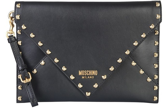 Leather Clutch - Moschino