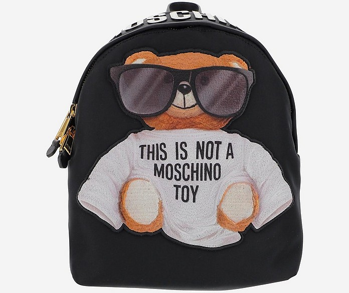 Black And Grey backpack - Moschino