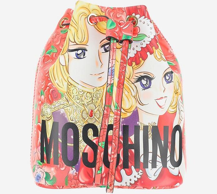 Anime Marie Antoniette Print Bucket Bag - Moschino