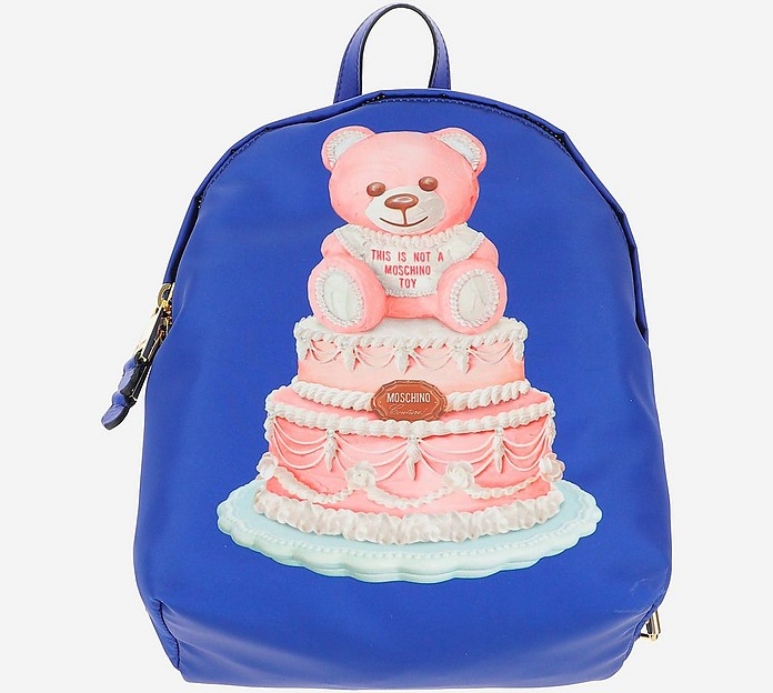 Blue Teddy Cake Backpack - Moschino