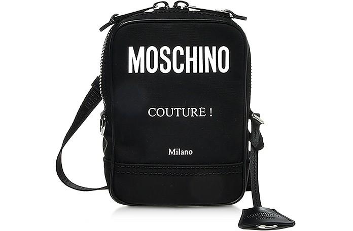 Black Nylon Couture Crossbody Bag - Moschino