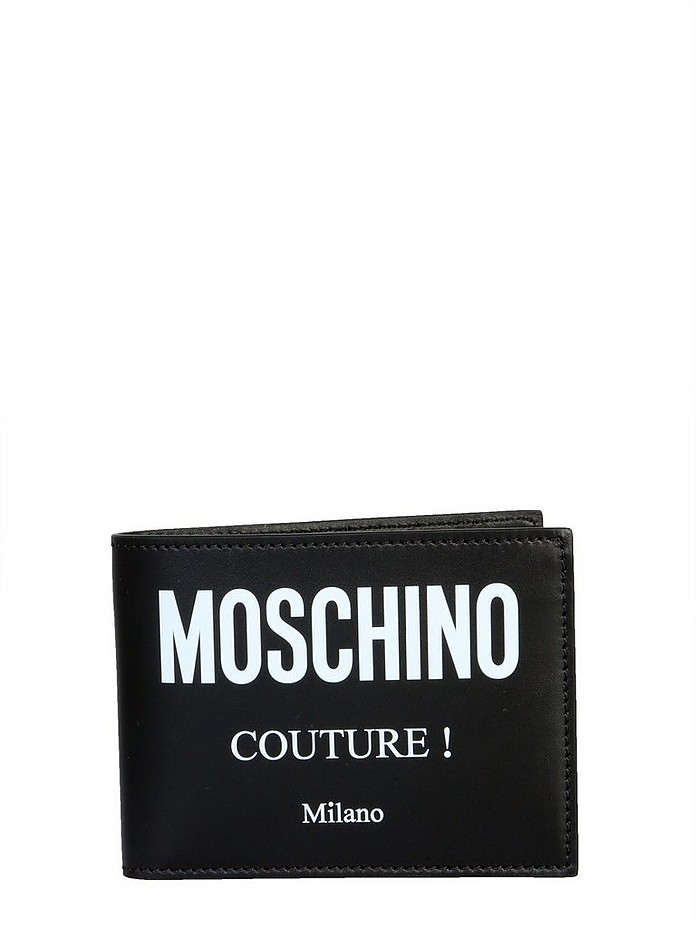 Bifold Wallet With Logo - Moschino
