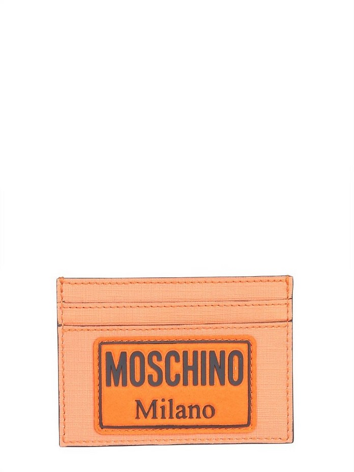 Card Holder With Patch Logo - Moschino