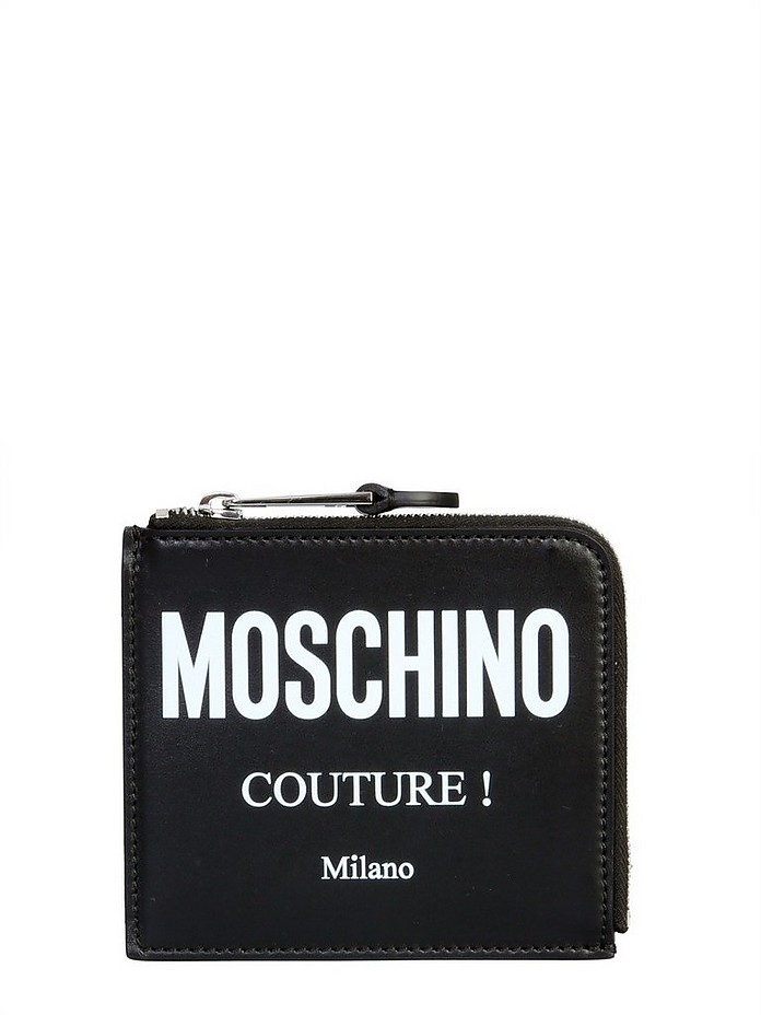 Square Wallet With Logo - Moschino