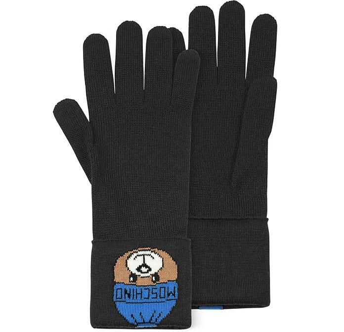 Black Long Gloves w/ Moschino Toy - Moschino