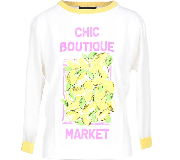Chic Boutique Market Print Women's Sweater - Moschino