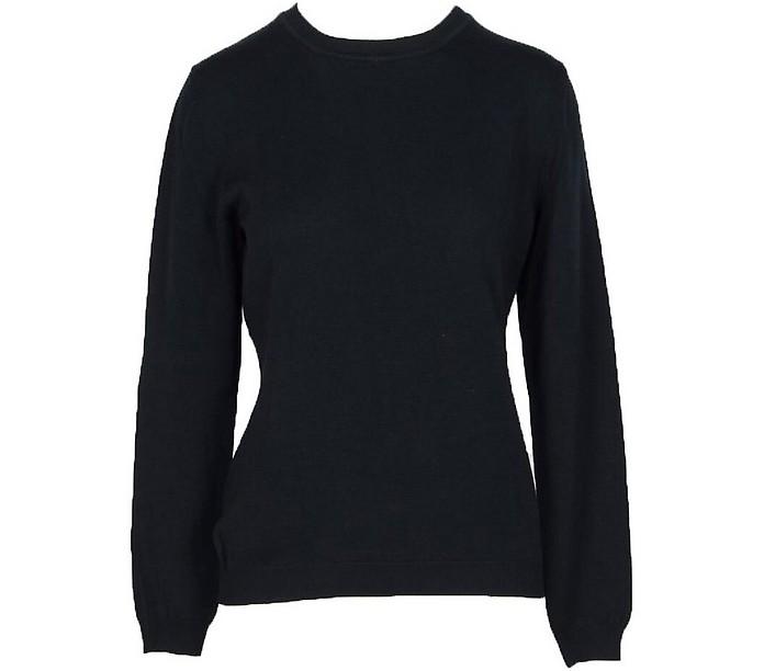 Solid Black Wool Women's Sweater - Moschino