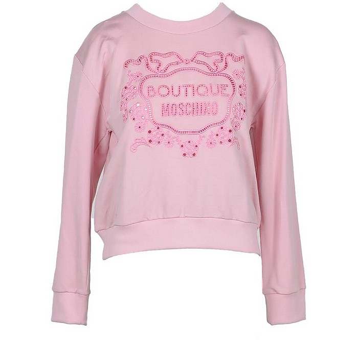 Pink Cotton Women's Sweater - Moschino
