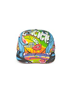 Juicicle Comic Girl Cotton Baseball Cap - Moschino