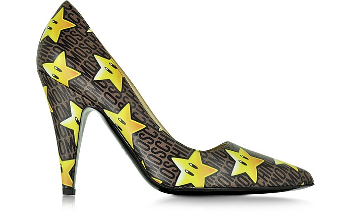Super Stars Leather Pump - Moschino