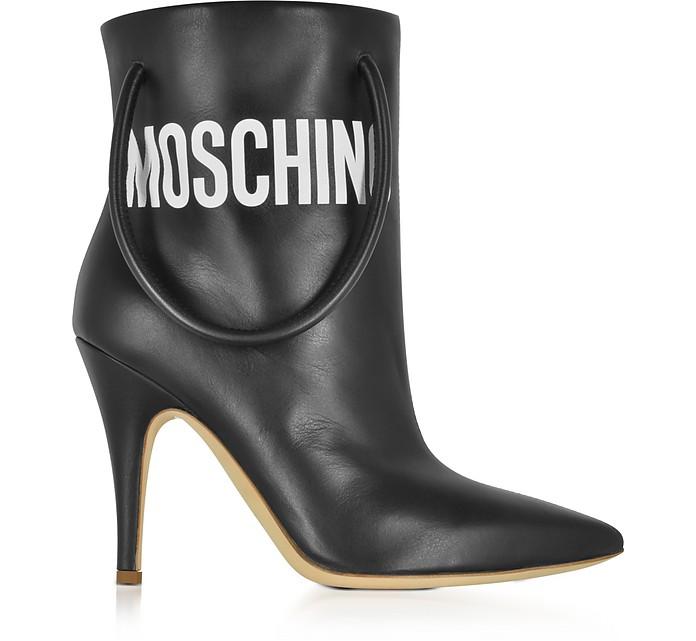 Black Nappa Leather Boots - Moschino