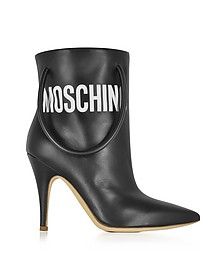 Black Nappa Leather Boots - Moschino