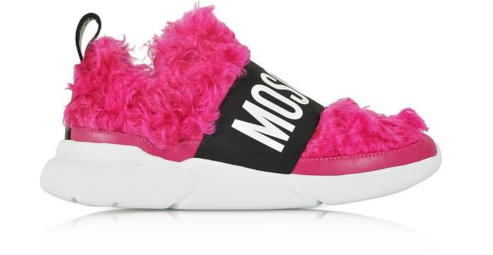 Fuchsia Mohair Women's Ettore Sneakers - Moschino / モスキーノ
