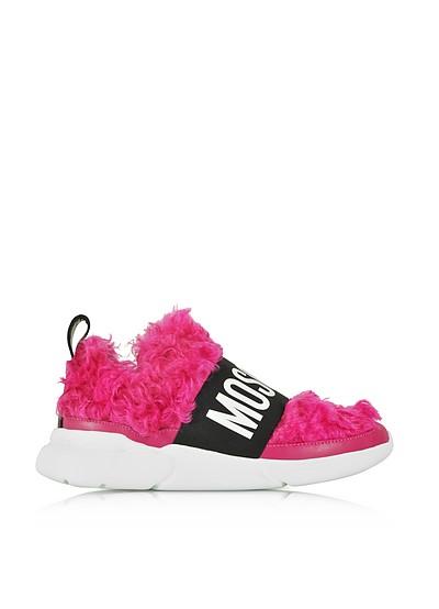 Fuchsia Mohair Women's Ettore Sneakers - Moschino