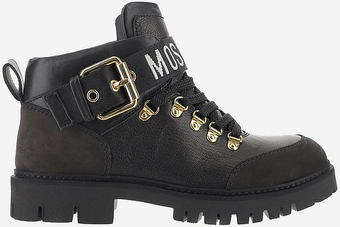 Black Mid-top Ankle Boots - Moschino