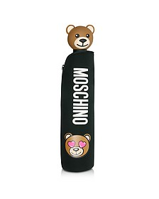 Toy in Love Mini Ombrello Nero con Custodia in Neoprene - Moschino