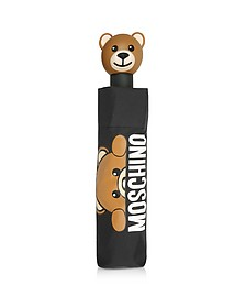 Hidden Teddy Bear - Mini Parapluie en Nylon Noir Imprimé  - Moschino