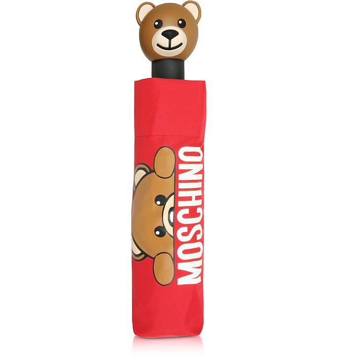 Hidden Teddy Bear Red Umbrella  - Moschino