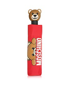 Hidden Teddy Bear - Mini Parapluie en Nylon Rouge Imprimé  - Moschino