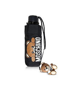 Hidden Teddy Bear Black Supermini Umbrella  - Moschino
