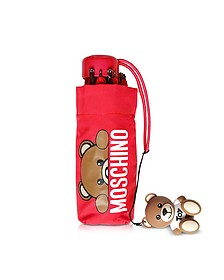 Hidden Teddy Bear Ombrello Supermini Rosso - Moschino