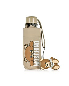 Hidden Teddy Bear Ombrello Supermini Beige - Moschino