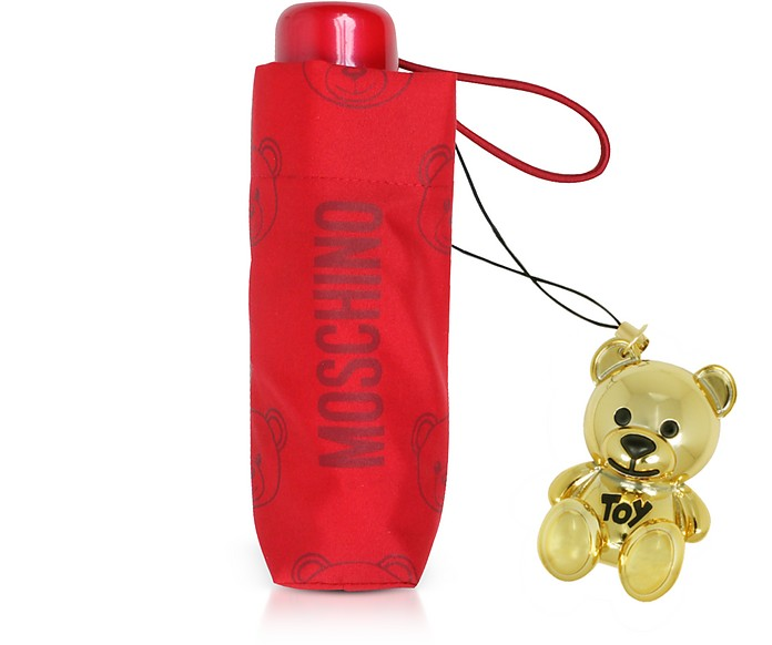 Teddy Bear Supermini Umbrella w/Golden Charm - Moschino